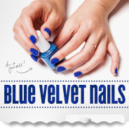 DIY: Blue Velvet Nails