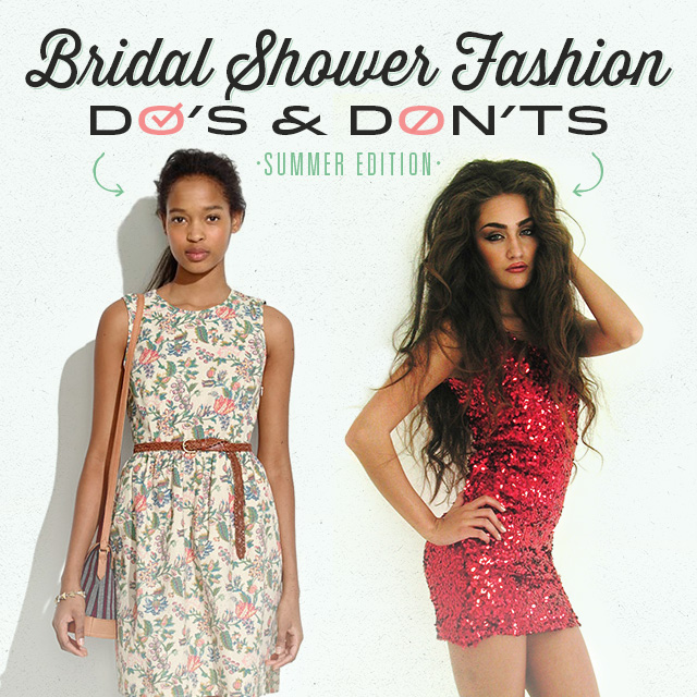 bridal shower fashion dos donts for summer