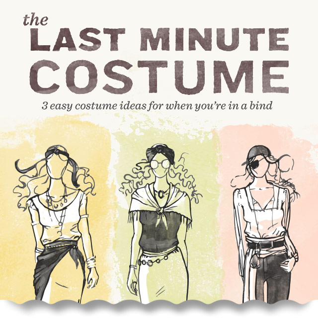 The Last Minute Costume 3 Easy Halloween Costumes | The Style Canvas | Scarves.comu0027s Fashion Style and Beauty Blog & The Last Minute Costume: 3 Easy Halloween Costumes | The Style ...