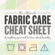 Fabric Care Cheat Sheet