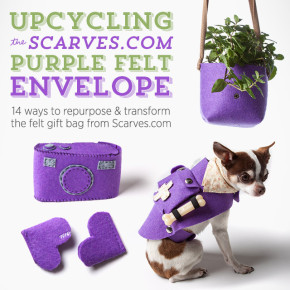 14 Ways to Upcycle the Scarves.com Purple Felt Envelope
