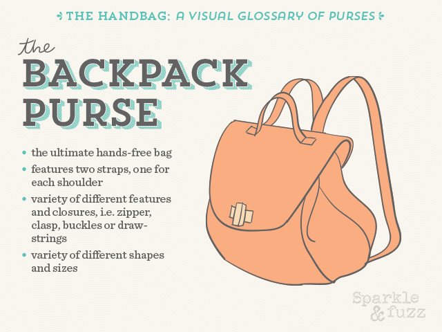 The Handbag- A Visual Glossary of Purses- The Backpack Purse
