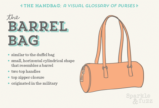 The Handbag- A Visual Glossary of Purses- The Barrel Bag