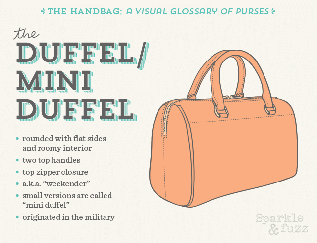 The Handbag- A Visual Glossary of Purses- The Duffel/ Mini Duffel