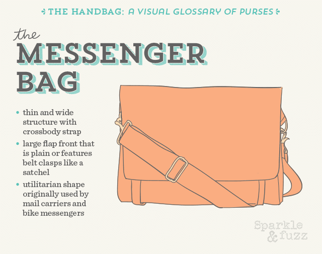 The Handbag- A Visual Glossary of Purses- The Messenger Bag
