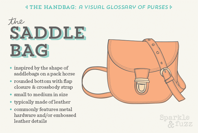 The Handbag A Visual Glossary Of Purses Saddle Bag