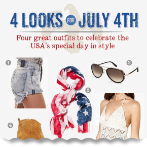 4 Looks for July 4th: 4 great outfits to celebrate the USA's special day