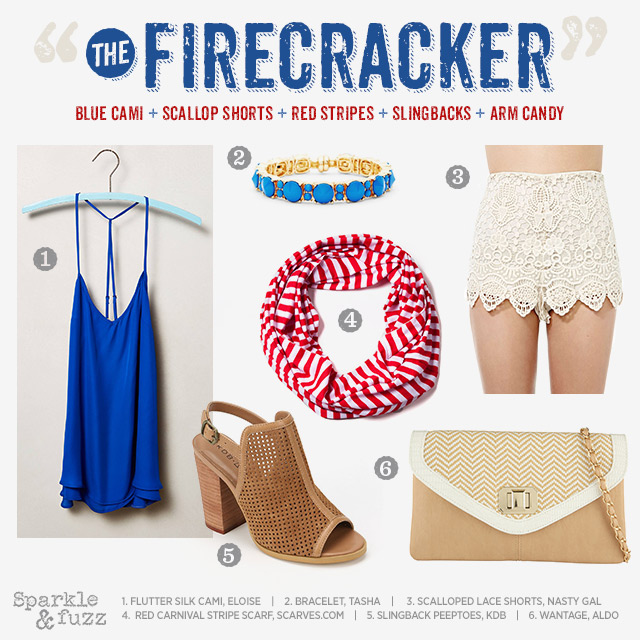 "4 Looks for July 4th: ""The Firecracker"""