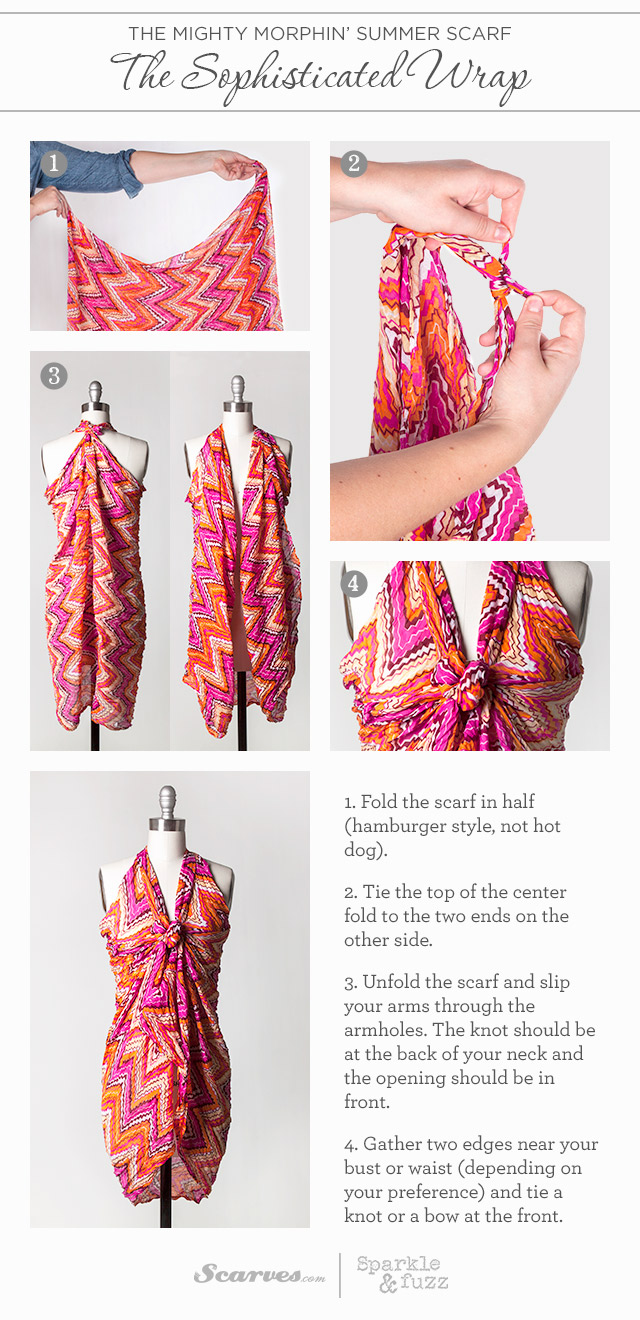 9 Ways To Transform Your Scarf Into A Sarong The Style