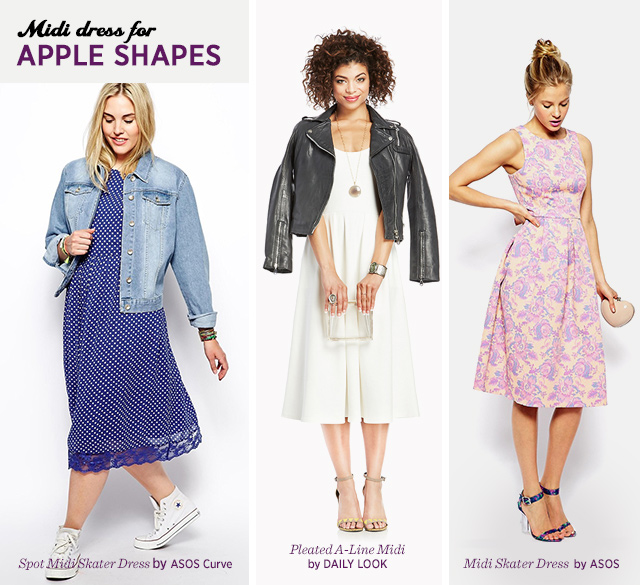 Midi Dresses for Apple Body Shape