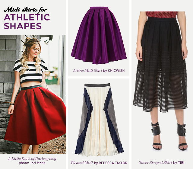 Midi Skirts for Athletic Body Shape
