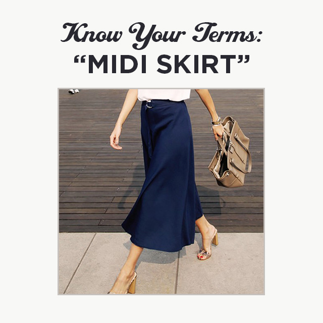 Know Your Terms: Midi Skirt