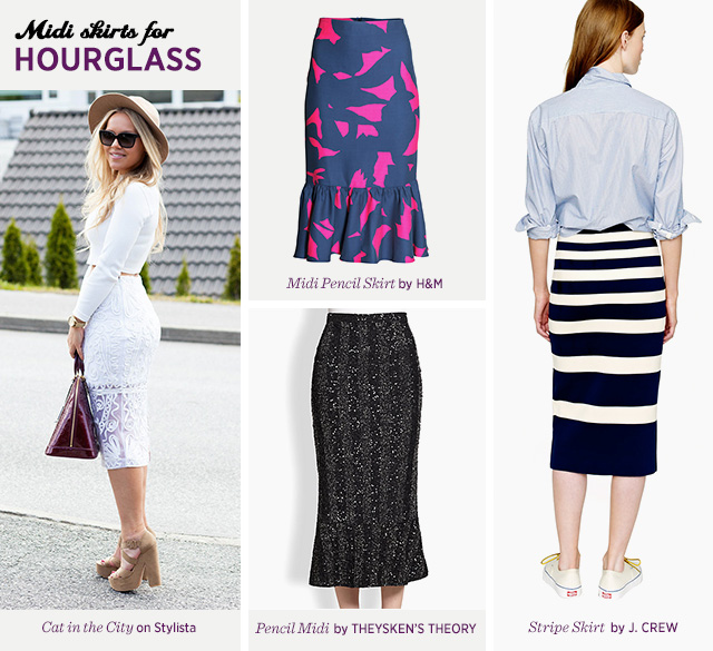 Midi Skirts for Hourglass Body Shape