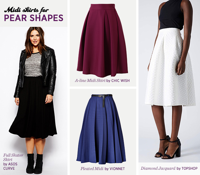 Midi Skirts for Pear Body Shape