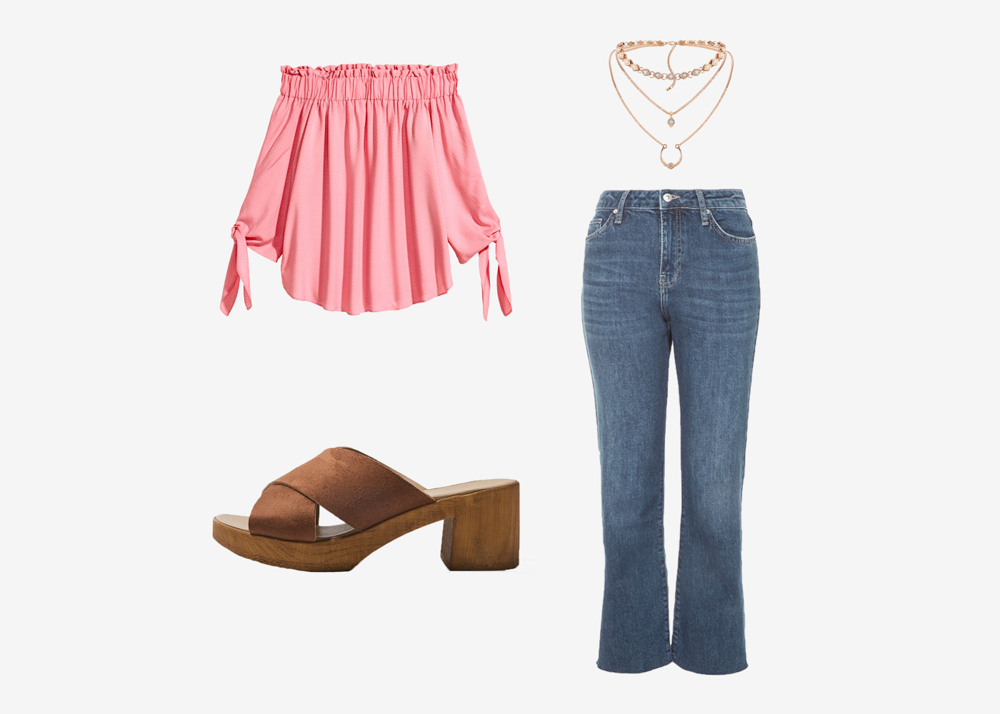 2a0c5919c978 Got a casual coffee date  You don t have to overthink your outfits to look  good. Dress up your classic denim jeans with a flirty off the shoulder top.