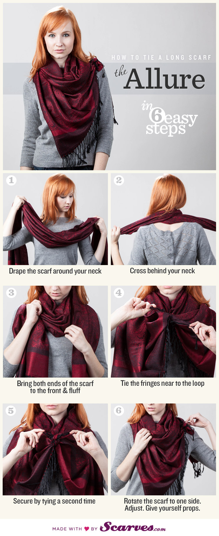 How To Tie A Scarf: The Allure