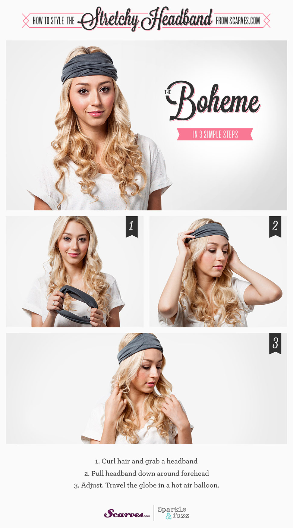 The Boheme - How to Style a Stretchy Headband
