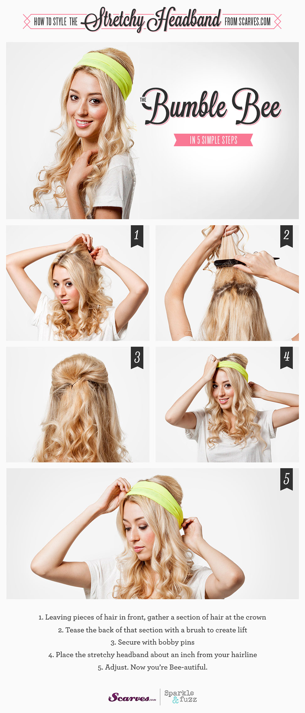 The Bumble Bee - How to Style a Stretchy Headband
