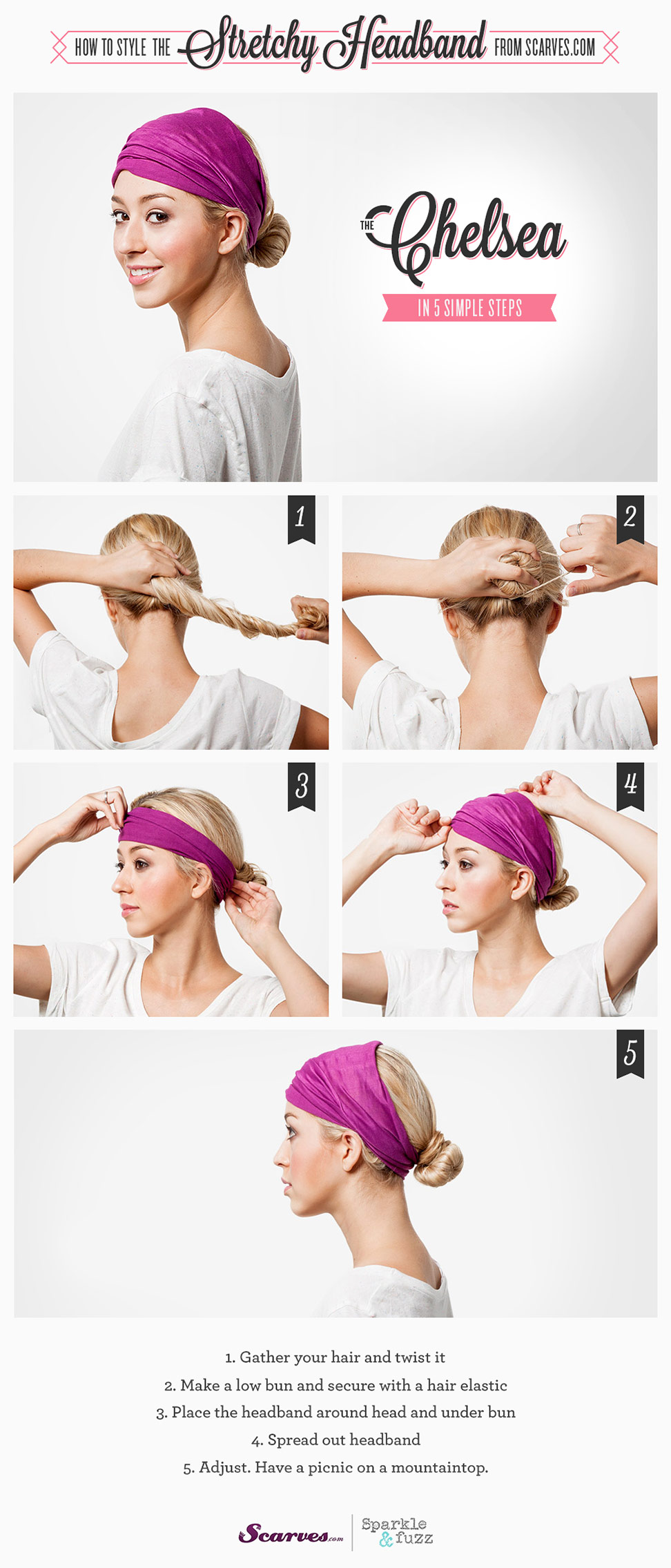 The Chelsea - How to Style a Stretchy Headband