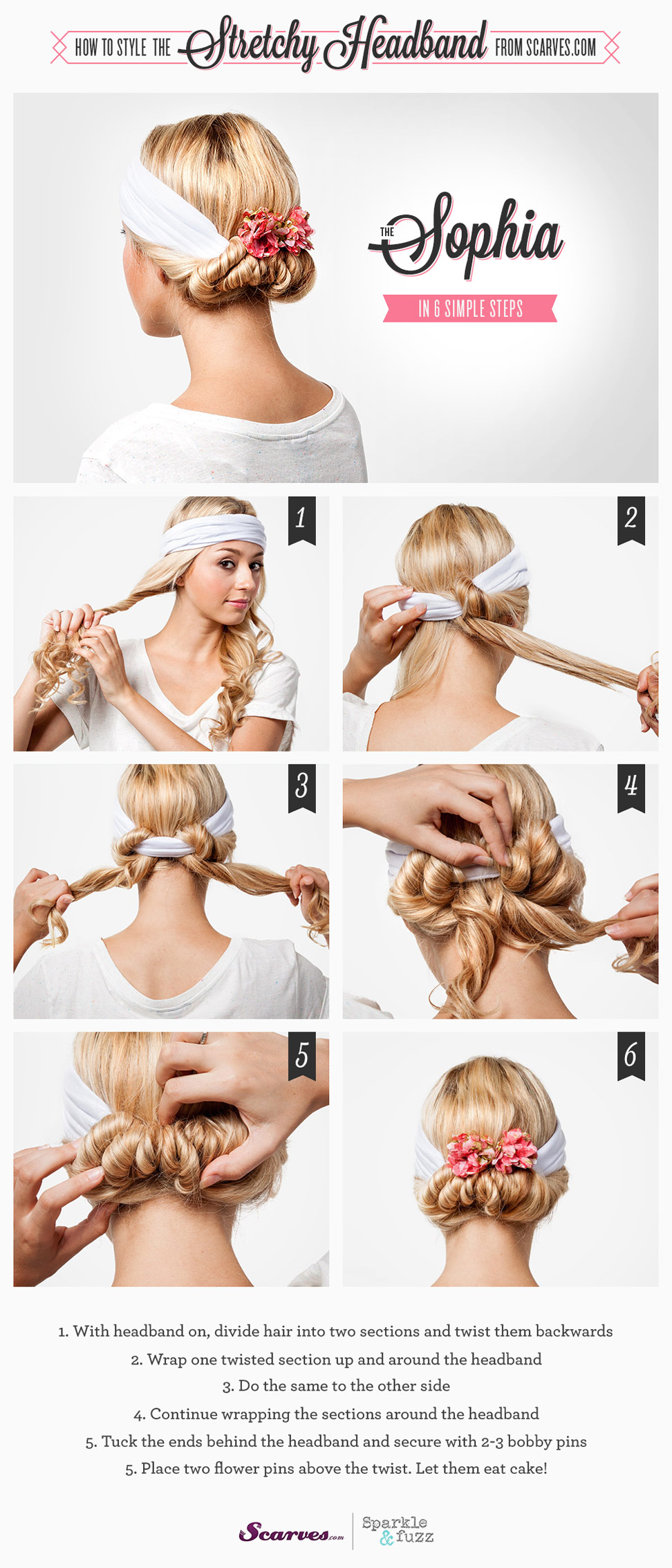 The Sophia - How to Style a Stretchy Headband