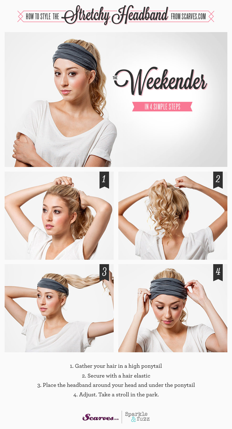Fashion style How to scarf wear headband for woman